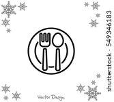 web line icon. cutlery  spoon... | Shutterstock .eps vector #549346183