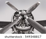 engine of an old aircraft | Shutterstock . vector #549348817