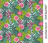 floral paradise hand drawn... | Shutterstock .eps vector #549363487