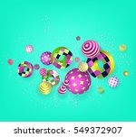 3d multicolored geometric... | Shutterstock .eps vector #549372907