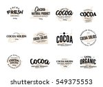 isolated cocoa logo set with... | Shutterstock .eps vector #549375553