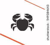 crab vector grey icon on white...