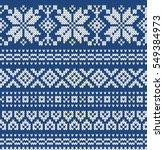 festive sweater design.... | Shutterstock .eps vector #549384973
