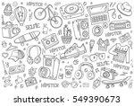 hipster vector abstract... | Shutterstock .eps vector #549390673