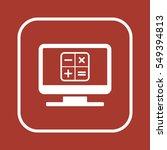 math  icon vector.  flat design. | Shutterstock .eps vector #549394813