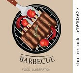 barbecue ribs and grill...   Shutterstock .eps vector #549403627