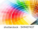 color palette  guide of paint... | Shutterstock . vector #549407437