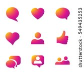 color gradient icon template.... | Shutterstock .eps vector #549435253