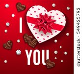 i love you red greeting card.... | Shutterstock .eps vector #549435793
