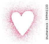 stencil hearts on a background... | Shutterstock .eps vector #549441133
