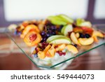 Fresh Fruits On Glass Plate