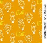 lamp light bulb hand drawn... | Shutterstock .eps vector #549451363