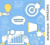 marketing strategy illustration ... | Shutterstock .eps vector #549452593