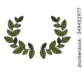 leaves wreath icon | Shutterstock .eps vector #549452977