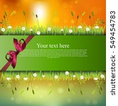 banner with grass and flowers | Shutterstock .eps vector #549454783
