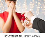 proposal  holidays  jewelry and ... | Shutterstock . vector #549462433