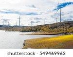 wind turbines in a wind powered ... | Shutterstock . vector #549469963