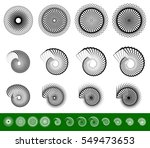 Set Of 12 Spiral  Swirl  Twirl...