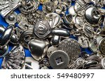 collection of metallic sewing... | Shutterstock . vector #549480997