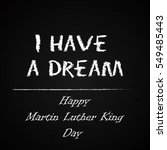 happy martin luther king day... | Shutterstock .eps vector #549485443