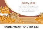 bakery background with bread... | Shutterstock .eps vector #549486133