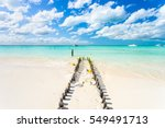an idyllic beach on isla...   Shutterstock . vector #549491713