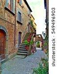 glimpse of civita di bagnoregio ... | Shutterstock . vector #549496903