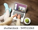 video call and chat concept.... | Shutterstock . vector #549511063