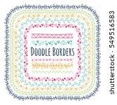 set of doodle borders ... | Shutterstock .eps vector #549516583