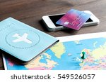 concept booking travel... | Shutterstock . vector #549526057