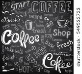 illustration hand drawn coffee ... | Shutterstock . vector #549532723