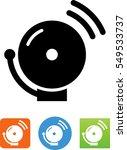 fire alarm bell icon | Shutterstock .eps vector #549533737