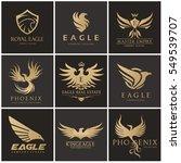 eagle logo set  brand identity...   Shutterstock .eps vector #549539707