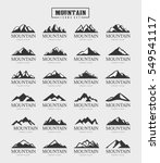 mountain logo template  ... | Shutterstock .eps vector #549541117