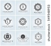 crests and luxury logo set ... | Shutterstock .eps vector #549548953