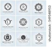crests logo hotel logo set ... | Shutterstock .eps vector #549548953
