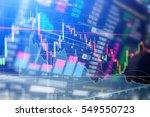 statistic graph stock market... | Shutterstock . vector #549550723