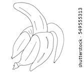banana. vector banana. | Shutterstock .eps vector #549555313