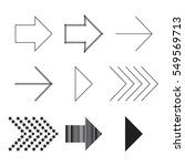 collection of black arrows... | Shutterstock .eps vector #549569713