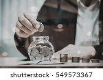 close up of business man hand... | Shutterstock . vector #549573367