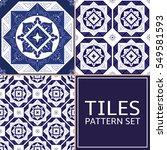 set of 3 tile pattern vector... | Shutterstock .eps vector #549581593