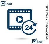streaming video symbol. movie...