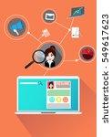 vector concept profile...   Shutterstock .eps vector #549617623