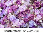 roses background in vintage... | Shutterstock . vector #549624313