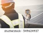 engineer using thermal imager...   Shutterstock . vector #549624937