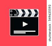 flat movie clapperboard symbol. ... | Shutterstock .eps vector #549635593