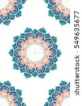 hand drawn mandala seamless...   Shutterstock .eps vector #549635677