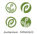 tree leaf vector logo design ... | Shutterstock .eps vector #549642613