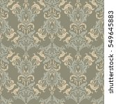 damask seamless pattern. floral ... | Shutterstock .eps vector #549645883