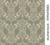 damask seamless pattern. floral ... | Shutterstock .eps vector #549645883